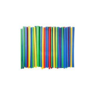 Трубочки для коктейлей, цветные, 21 см ( 500 шт./уп. )