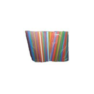 Трубочки для фреша , цветные, d=6 мм, 21 см ( 500 шт./уп. )