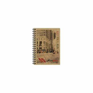Блокнот для записей В6, боковая пружина, 96 листов, бурый, шт. (арт.45019)