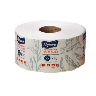 """Туалетная бумага """"Papero""""Джамбо, 2-х слойная, MINI, целлюлозная, белая, 50 м , 24 шт./уп. (арт.10002-1)"""