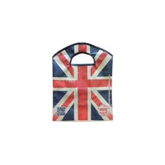 """ЭКО сумка """"Британский флаг"""", ТМ """"ZOZ"""", с прорезными ручками, 400 мм*325 мм*95 мм (арт.96022)"""