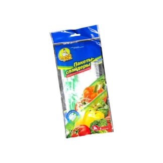 Пакет с застежкой для хранения и замораживания продуктов, 3 л, 5 шт./уп. (арт 0.1349)
